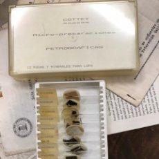 Coleccionismo de minerales: MICRO PREPARACIONES PETROGRÁFICAS PARA LUPA. Lote 227067230
