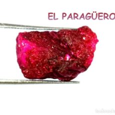 Coleccionismo de minerales: RUBI ROJO EN BRUTO DE 14,90 KILATES CERTIFICADO AGI MEDIDA 1,7X1,1X1,0 CENTIMETROS-P6. Lote 233324125