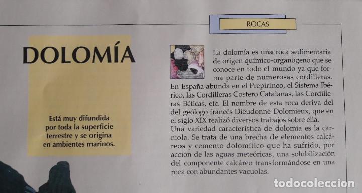 Coleccionismo de minerales: Dolomía en bruto y pulimentada. Mineralogía. Minerales y piedra preciosas, editorial RBA - Foto 2 - 234040075