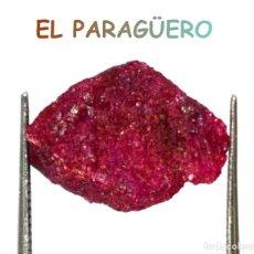 Coleccionismo de minerales: RUBI ROJO EN BRUTO DE 9,30 KILATES CERTIFICADO AGI MEDIDA 1,4X1,1X0,8 CENTIMETROS-P9. Lote 234368445