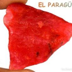 Coleccionismo de minerales: ZAFIRO NARANJA EN BRUTO DE 65,40 KILATES CON CERTIFICADO AGI - MEDIDA 3,6X2,1X1,5 CENTIMETROS-P17. Lote 234388695