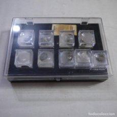 Coleccionismo de minerales: CAJA CON 9 MINERALES DE LA COLECCIÓN EL MUNDO DE LOS MINERALES ORBIS-FABBRI. Lote 235165730
