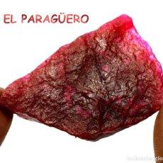 Coleccionismo de minerales: RUBI ROJO EN BRUTO DE 142,70 KILATES CERTIFICADO AGI MEDIDA 4,8X3,2X1,6 CENTIMETROS-BRU2. Lote 247782940