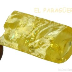 Coleccionismo de minerales: ZAFIRO AMARILLO EN BRUTO DE 42,40 KILATES CERTIFICADO AGI MEDIDA 2,6X1,4X0,8 CENTIMETROS-BRU5. Lote 247785360