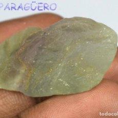 Coleccionismo de minerales: TURMALINA PARAIBA EN BRUTO DE 73,40 KILATES CERTIFICADO AGI MEDIDA 3,7X1,9X1,4 CENTIMETROS-BRU7. Lote 247786815