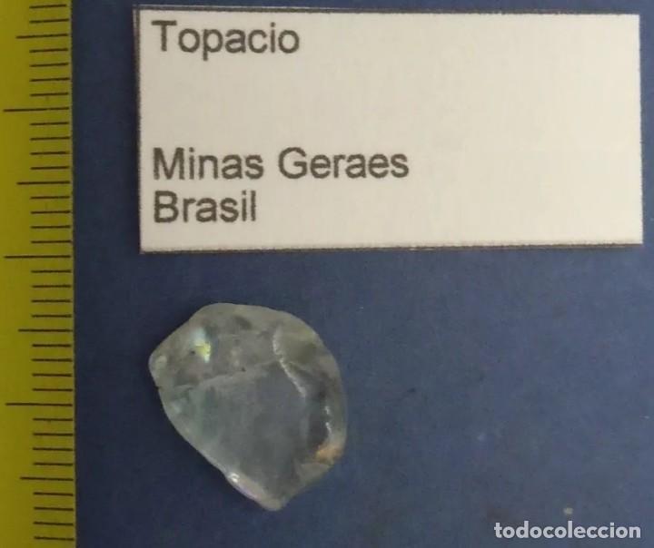 Coleccionismo de minerales: PRECIOSO TOPACIO NATURAL DE LAS MINAS GERAES, EN BRASIL. APROXIMADAMENTE 1,5 CM. - Foto 2 - 257690420