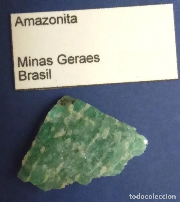 Coleccionismo de minerales: BELLA AMAZONITA NATURAL, EXTRAIDA DE LAS MINAS GERAES, EN BRASIL APROXIMADAMENTE 1,5 X 2,0 CM. - Foto 2 - 257694100