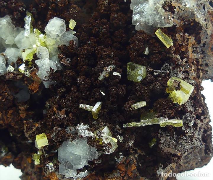 Coleccionismo de minerales: Wulfenita y Calcita, México - Foto 5 - 261115730