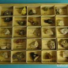Coleccionismo de minerales: DOS CAJAS CLASIFICADORAS DE MINERALES CON 50 COMPARTIMENTOS. VER DESCRIPCIÓN E IMÁGENES. Lote 264098865