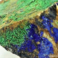 Coleccionismo de minerales: CONICALCITA Y AZURITA, CALICATA DOLORES, MURCIA. Lote 269441763