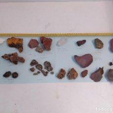 Coleccionismo de minerales: LOTE DE MINERALES GRAN TAMAÑO. CUARZO, TALCO, CALCITA, PIRITA, CINABRIO, GALENA, LIMONITA.... Lote 269484128