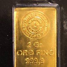 Coleccionismo de minerales: LINGOTE DE ORO PURO SEMPSA 2 GR 24 QUILATES. Lote 271070148
