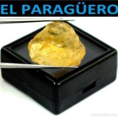 Coleccionismo de minerales: TURMALINA EN BRUTO AMARILLA DE 26,60 KILATES CON CERTIFICADO - MEDIDA 2,2X1,9 X 1,0 CENTIMETROS-W8. Lote 271403468