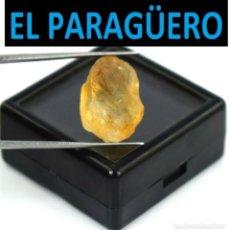 Coleccionismo de minerales: TURMALINA EN BRUTO AMARILLA DE 14,15 KILATES CON CERTIFICADO - MEDIDA 1,8X1,2 X 0,9 CENTIMETROS-W9. Lote 271404818