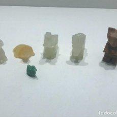 Collezionismo di minerali: LOTE DE FIGURAS HECHAS DE MINERALES. Lote 276113968