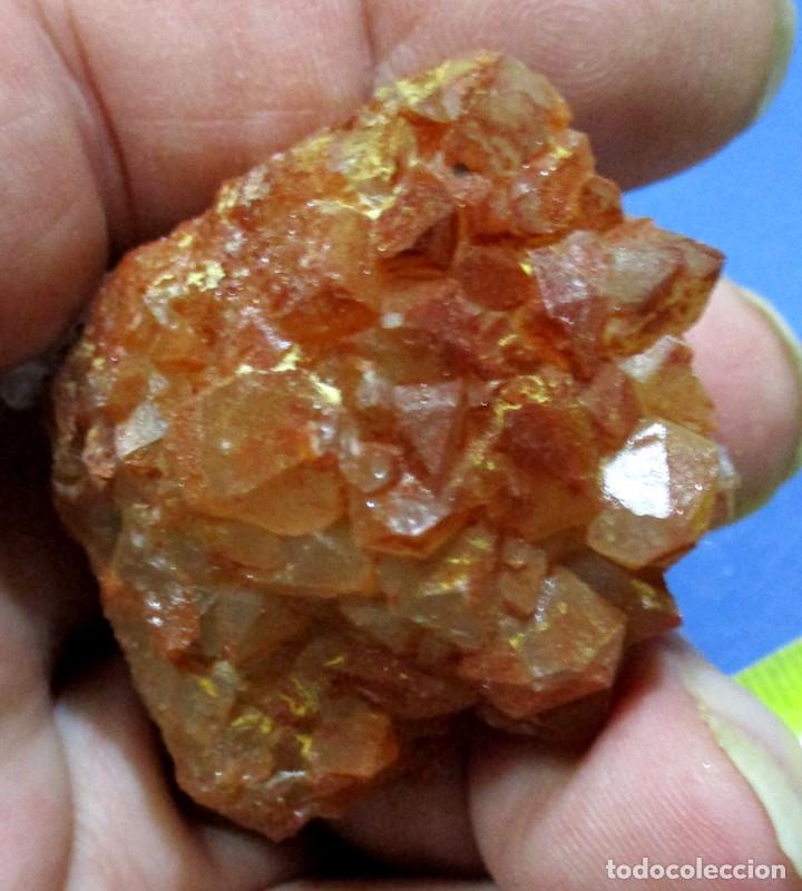 CUARZO HEMATOIDEO-AOULI-MARRUECOS U-118 (Coleccionismo - Mineralogía - Otros)