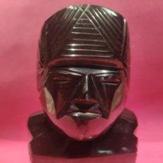 Coleccionismo de minerales: TÓTEM MEXICANO EN OBSIDIANA. Lote 281889498