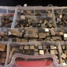 Coleccionismo de minerales: MAGNIFICO GRAN LOTE COLECCIÓN DE PIRITAS - MACLAS DE PIRITAS Y PIRITAS LIMONITIZADAS 100 PIEZAS. Lote 285051328