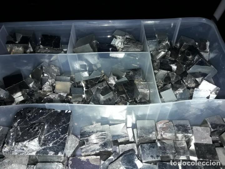 Coleccionismo de minerales: Magnifico gran lote colección de Piritas - Maclas de Piritas y Piritas Limonitizadas 100 piezas - Foto 3 - 285051328