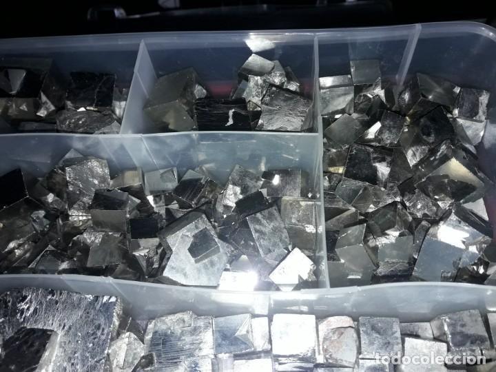 Coleccionismo de minerales: Magnifico gran lote colección de Piritas - Maclas de Piritas y Piritas Limonitizadas 100 piezas - Foto 7 - 285051328