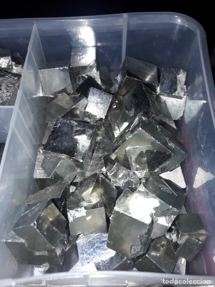 Coleccionismo de minerales: Magnifico gran lote colección de Piritas - Maclas de Piritas y Piritas Limonitizadas 100 piezas - Foto 26 - 285051328
