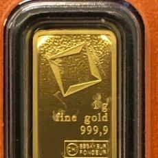 Collezionismo di minerali: LINGOTE DE ORO PURO - 1,00 GRAMO - VALCAMBI SUIZA. Lote 285279783