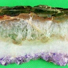 Coleccionismo de minerales: DRUSA DE AMATISTA PULIDA . ARTIGAS. URUGUAY. CALIDAD: EXCELENTE. PESO: 62 GR.. Lote 287592688