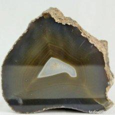 """Coleccionismo de minerales: ÁGATA PULIDA. YACIMIENTO """"LA LIMEÑA"""" ARTIGAS. URUGUAY. PESO 1.349 GR. DIMENSIONES 130 X 140 MM.. Lote 287689858"""