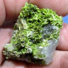 Coleccionismo de minerales: CLINOZOISITA-ALBATERA-ALICANTE S-906. Lote 288386258