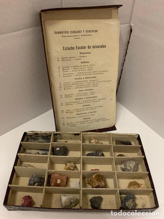 Coleccionismo de minerales: antiguo ESTUCHE ESCOLAR DE MINERALES. muy curioso... mide unos 18x10x2cms - Foto 6 - 288460163