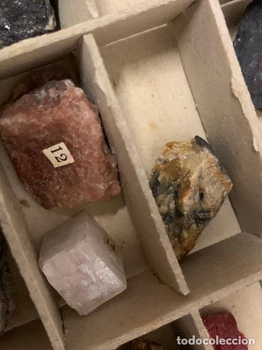 Coleccionismo de minerales: antiguo ESTUCHE ESCOLAR DE MINERALES. muy curioso... mide unos 18x10x2cms - Foto 10 - 288460163