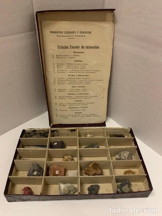 Coleccionismo de minerales: antiguo ESTUCHE ESCOLAR DE MINERALES. muy curioso... mide unos 18x10x2cms - Foto 17 - 288460163