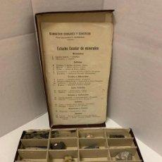 Coleccionismo de minerales: ANTIGUO ESTUCHE ESCOLAR DE MINERALES. MUY CURIOSO... MIDE UNOS 18X10X2CMS. Lote 288460163
