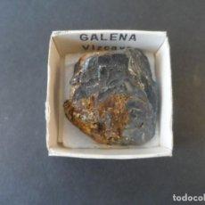 Collezionismo di minerali: MINERAL GALENA MED.40 X 35 MM. PROCEDENCIA VIZCAYA. SIGLO XX. Lote 292066838