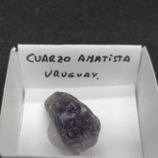 Coleccionismo de minerales: CUARZO AMATISTA - MINERAL CAJA 4X4. Lote 295692248