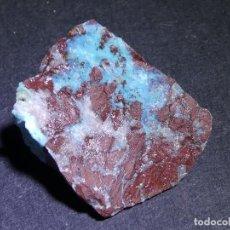Coleccionismo de minerales: (239) MINERALES. GEM SILICA EN JASPE ROJO, RIOTINTO. HUELVA. SPAIN.. Lote 296784303