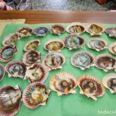 Coleccionismo de moluscos: LOTE DE CONCHAS CON IMAGENES RELIGIOSAS. Lote 75749339