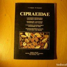 Coleccionismo de moluscos: LIBRO DE MALACOLOGIA. CIPRAEIDAE. AUTOR: V. COSSIGNANI, M. PASSAMONTI. AÑO 1991.. Lote 143293934