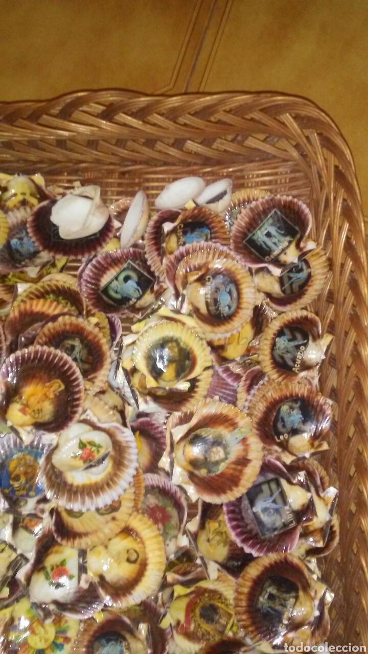 Coleccionismo de moluscos: Lote de 150 conchas decoradas .(ver fotos y leer descripcion) - Foto 3 - 186068102