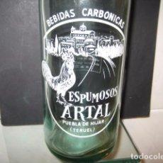 Coleccionismo Otros Botellas y Bebidas: ANTIGUA GASEOSA ESPUMOSOS ARTAL. PUEBLA DE HIJAR, TERUEL. FABRICANTE Nº 4.706. TELF. 77. Lote 81555656