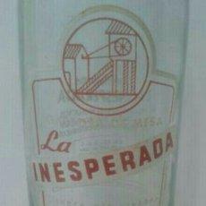 Coleccionismo Otros Botellas y Bebidas: BOTELLA ANTIGUA DE GASEOSA LA INESPERADA. Lote 81712638
