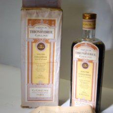 Coleccionismo Otros Botellas y Bebidas: FRASCO DE FARMACIA THIONHYDROL G. GREMY PARIS // SIN DESPRECINTAR AÑOS 20 DE MUSEO. Lote 82186948