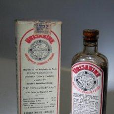 Coleccionismo Otros Botellas y Bebidas: FRASCO DE FARMACIA URINANINE SEDANTE DIURETICO LAB. LONGUET // SIN DESPRECINTAR AÑOS 20. Lote 82337496