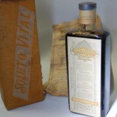 Coleccionismo Otros Botellas y Bebidas: FRASCO DE FARMACIA JARABE SOLUTO VITAL // SIN DESPRECINTAR AÑOS 20. Lote 84453752