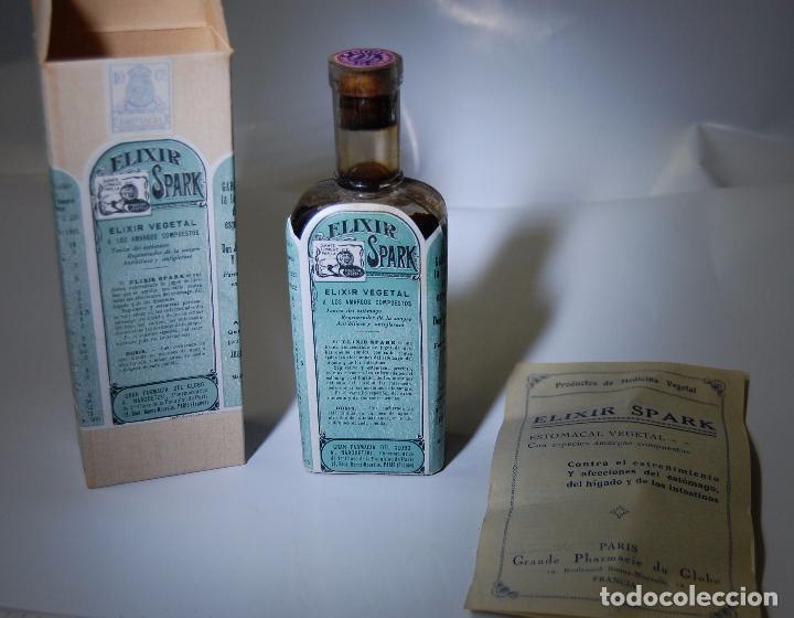 Coleccionismo Otros Botellas y Bebidas: FRASCO DE FARMACIA ELIXIR SPARK FARMACIA DEL GLOBO // SIN DESPRECINTAR DE MUSEO - Foto 2 - 207968357