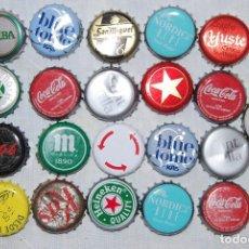 Coleccionismo Otros Botellas y Bebidas: LOTE 21 CHAPA TAPON CORONA VARIAS BEBIDAS. Lote 87063244
