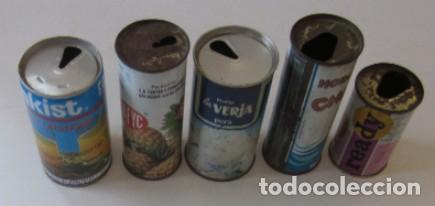 Coleccionismo Otros Botellas y Bebidas: CINCO ANTIGUAS LATAS DE ZUMO - AÑOS 70 - Foto 7 - 87806540