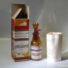 Coleccionismo Otros Botellas y Bebidas: FRASCO DE FARMACIA ORQUINA INSTITUTO LLORENTE // MUY ANTIGUO. Lote 90112756