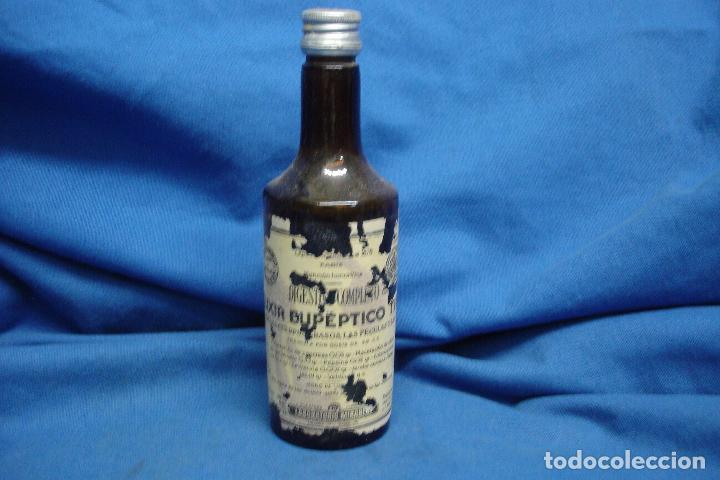 ANTIGUO FRASCO DE ELIXIR EUPÉPTICO DE LABORATORIOS MIRABENT, BARCELONA (Coleccionismo - Otras Botellas y Bebidas )