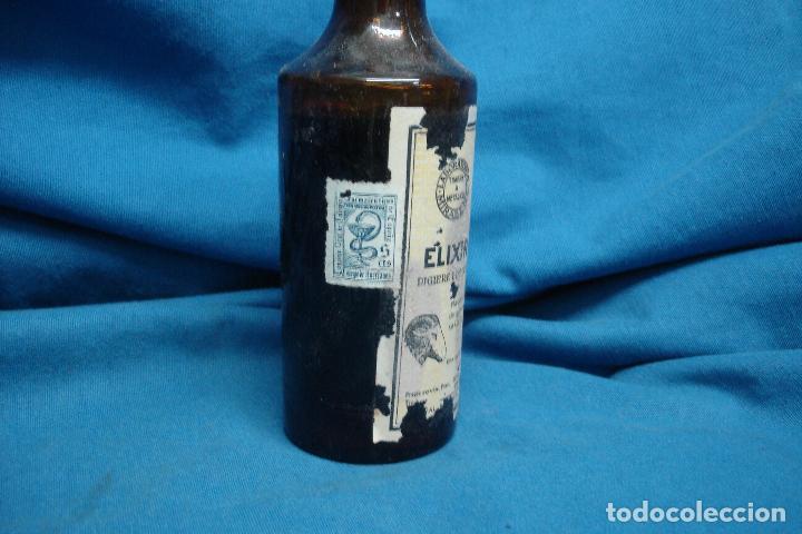 Coleccionismo Otros Botellas y Bebidas: ANTIGUO FRASCO DE ELIXIR EUPÉPTICO DE LABORATORIOS MIRABENT, BARCELONA - Foto 5 - 90472524
